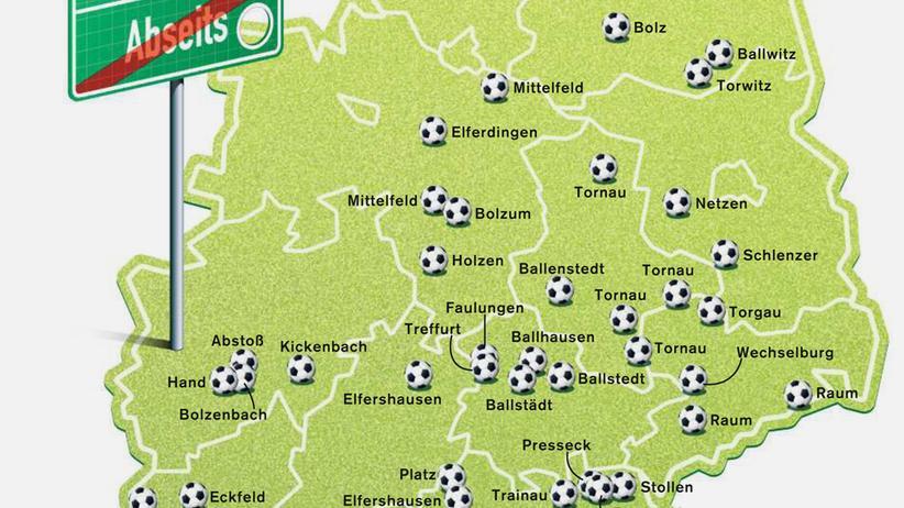 Deutschlandkarte: Wo der Fußball zu Hause ist