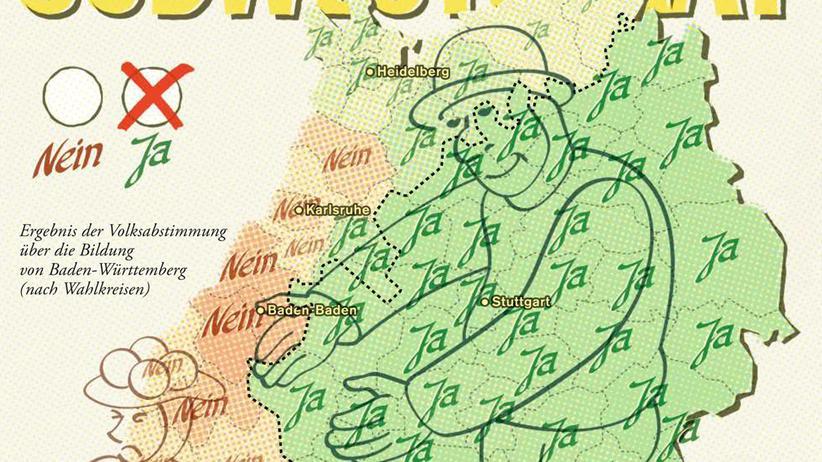 Deutschlandkarte: Baden-Württemberg-Karte: Die Geburt des Bundeslands