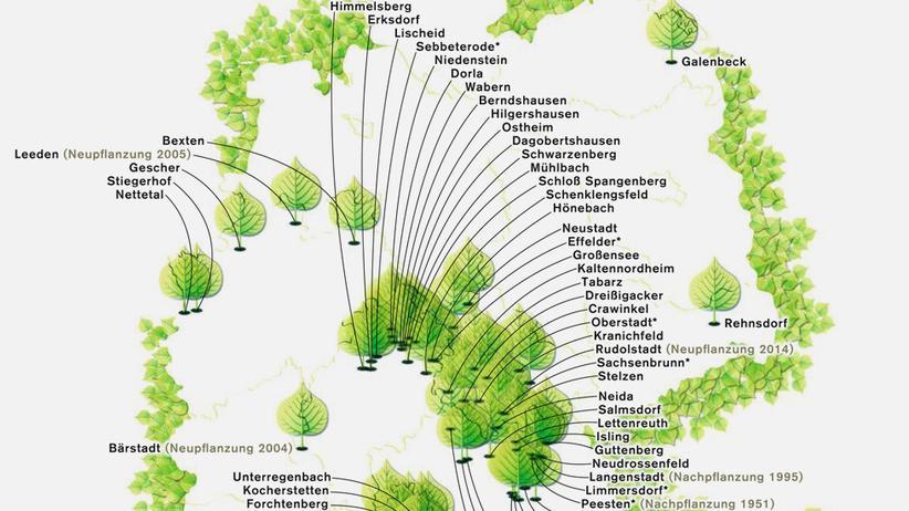 Deutschlandkarte: Tanz um die Linde
