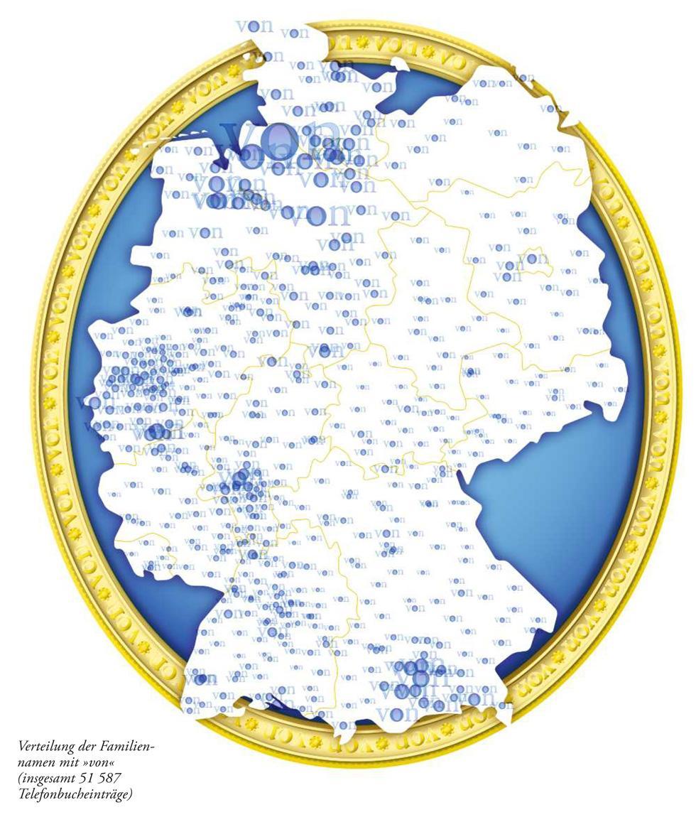 """Deutschlandkarte: Namen mit """"von"""""""