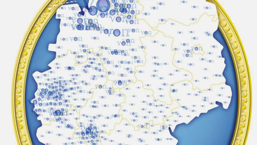 Deutschlandkarte: Die Vons von nebenan