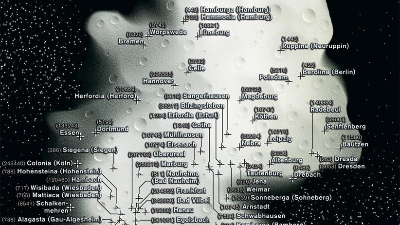 Deutschlandkarte: Ein Asteroid namens Heppenheim