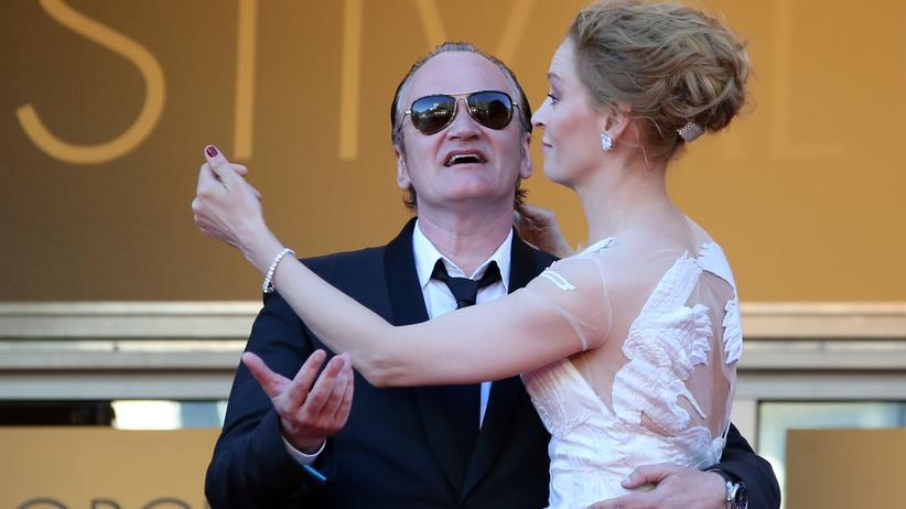 Uma Thurman und Quentin Tarantino bei den Filmfestspielen in Cannes