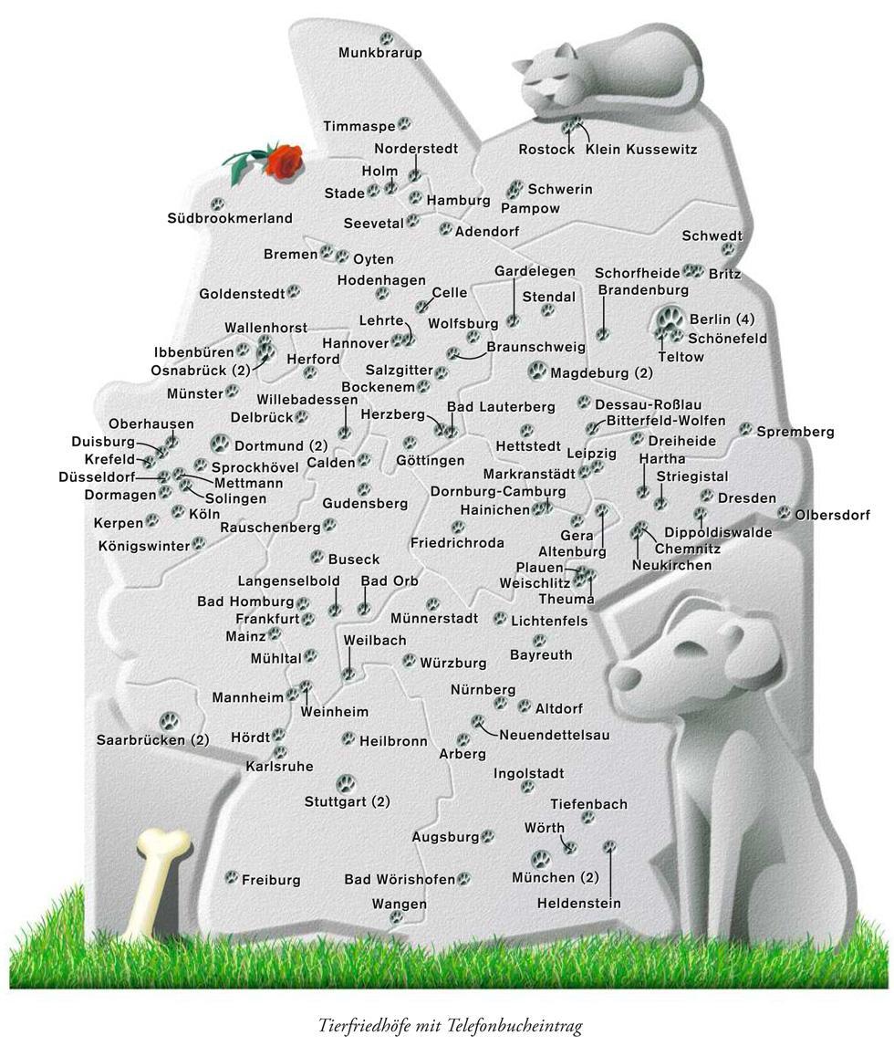 Deutschlandkarte: Tier, bestattung, Tod, Affe