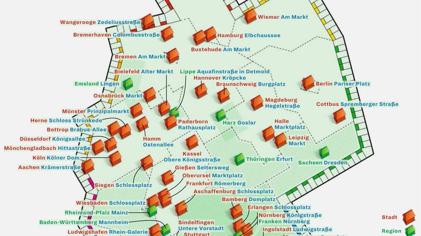 Deutschlandkarte: Wie heißt Ihre Schlossstraße?