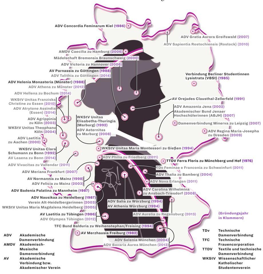 Deutschlandkarte Studentinnenverbindungen Zeitmagazin