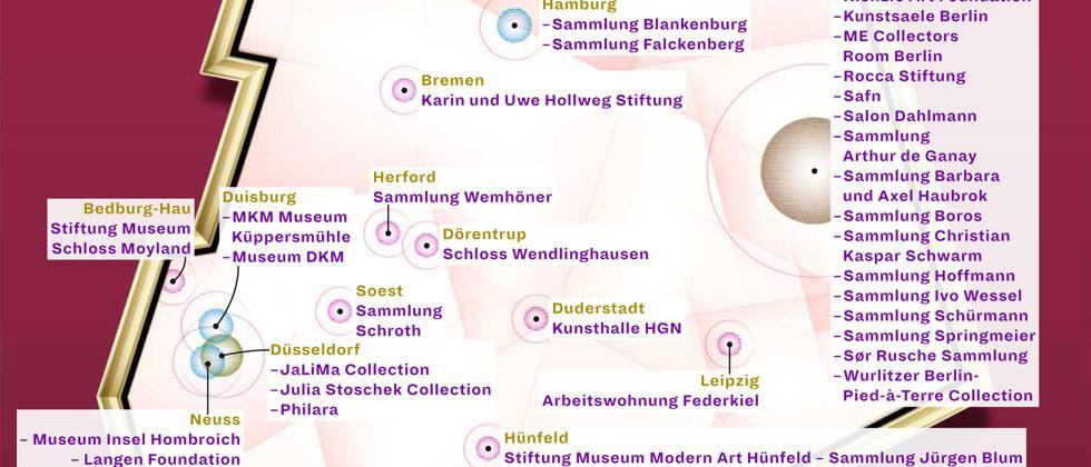 Deutschlandkarte: Private Kunstsammlungen