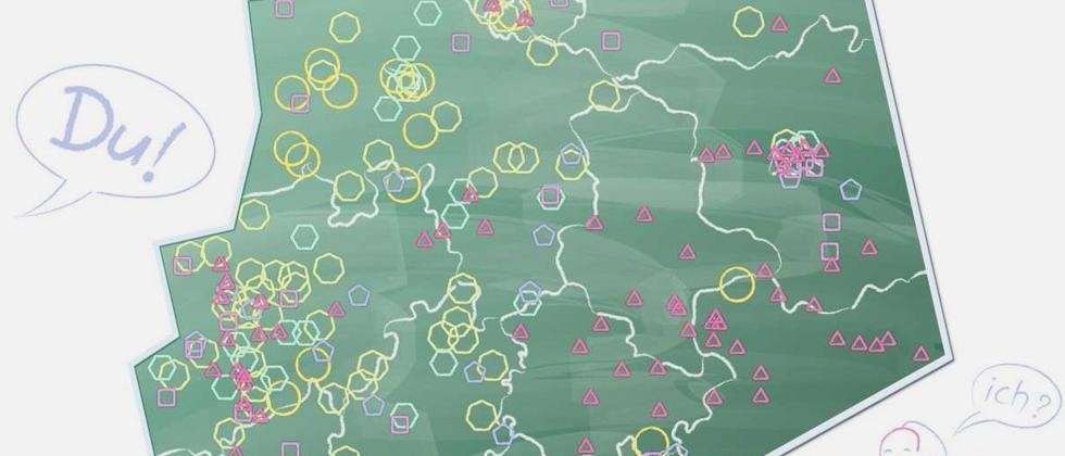 Deutschlandkarte: Duzen im Klassenzimmer