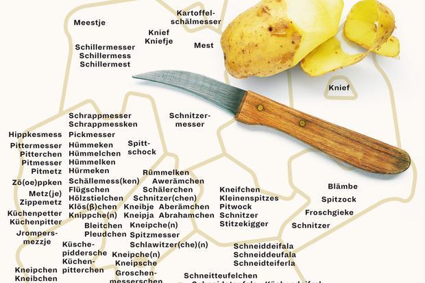 Deutschlandkarte: Wie das kleine Küchenmesser genannt wird