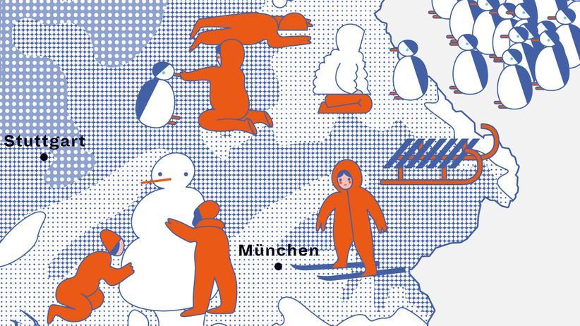 Deutschlandkarte: Der erste Schnee