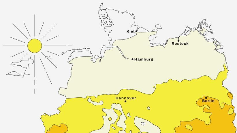 Deutschlandkarte: Zukünftige Hitze