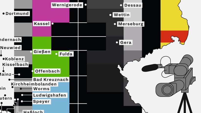 Deutschlandkarte: Bürgerfernsehen