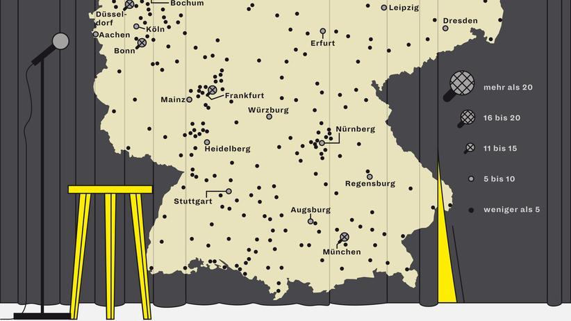 Deutschlandkarte: Im Land der Wortjongleure