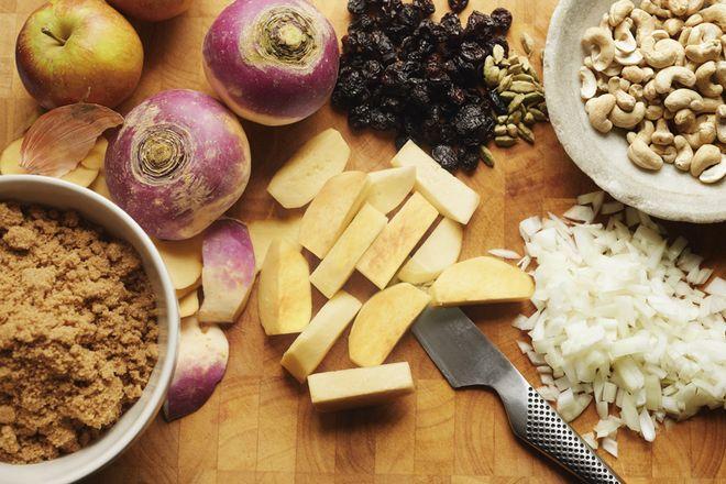 Steckrüben-Apfel-Pfanne: Kochrezept, Kochen, Obst, Gericht, Käse, Nahrungsmittel
