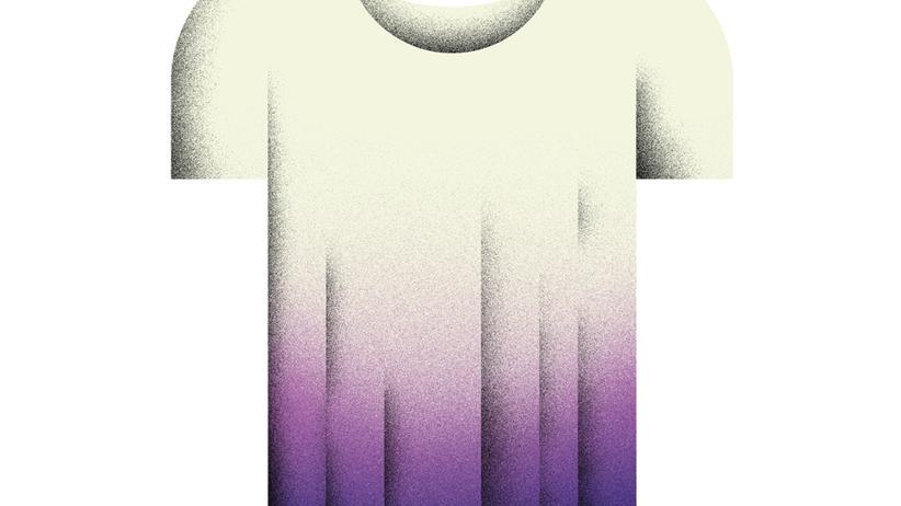 Wundertüte: T-Shirt mit Farbverlauf batiken