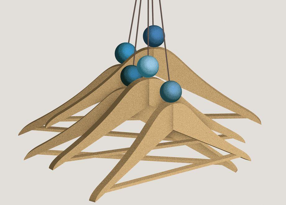 eine garderobe aus holzb geln zeitmagazin. Black Bedroom Furniture Sets. Home Design Ideas