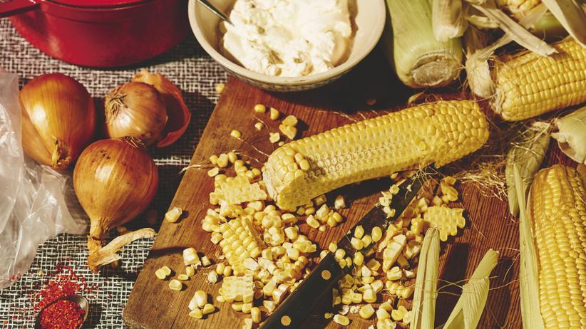 Wochenmarkt: Mais ohne Dose
