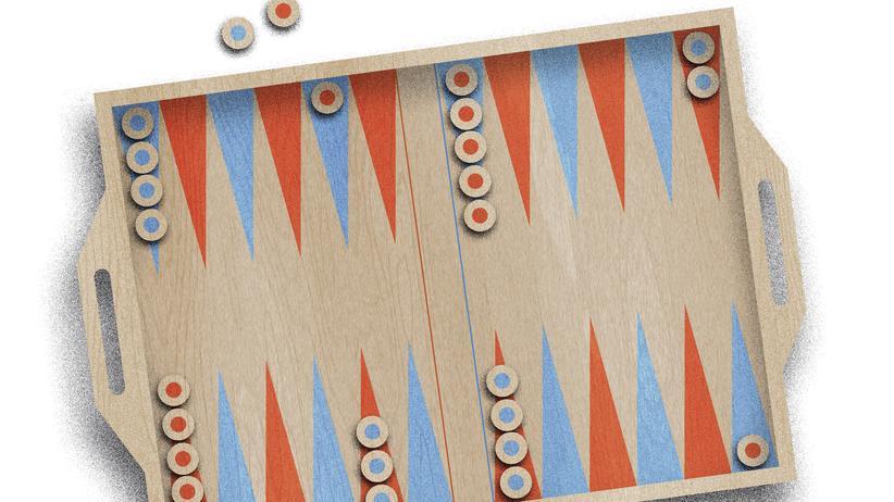 Backgammon: Die Würfel können fallen