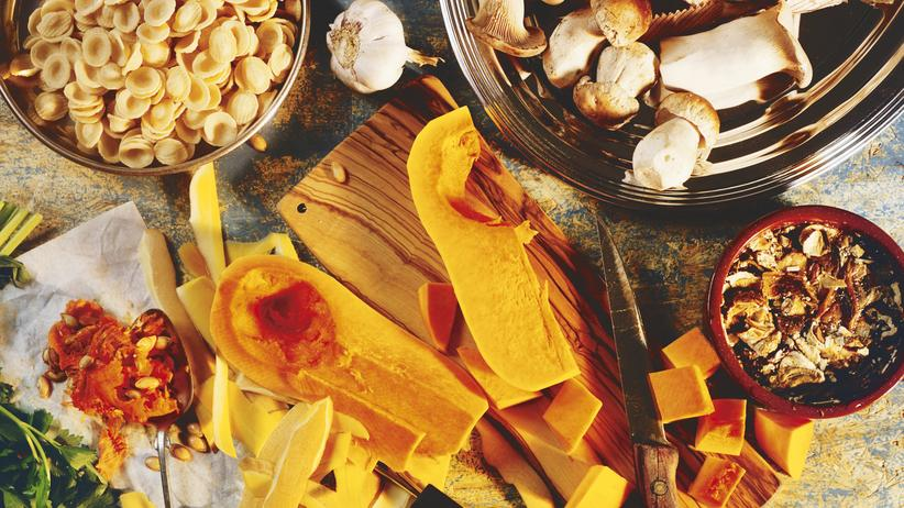 Pilze-Kürbis-Pasta: Herbst in der Pfanne