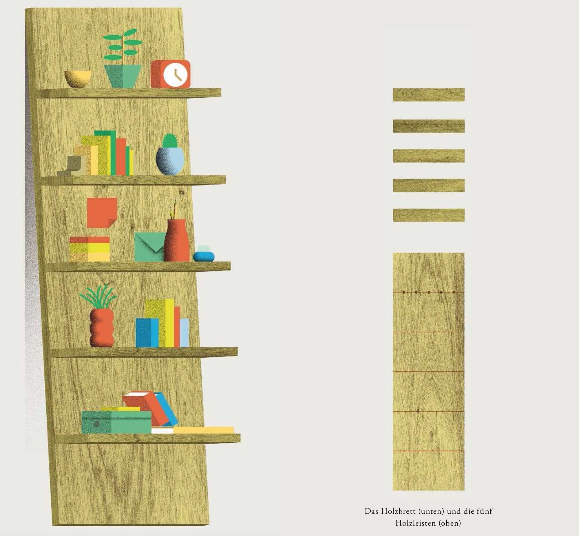 Bücherregal gezeichnet  Ein mobiles Wandregal | ZEITmagazin