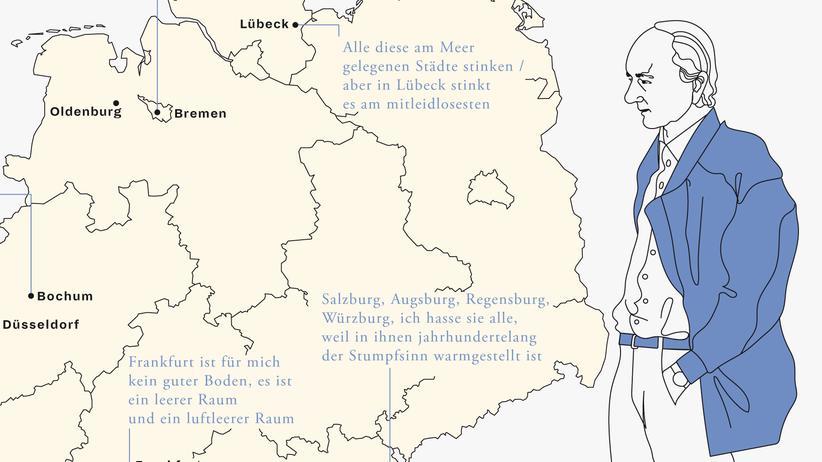 Deutschlandkarte: Der Städtehasser