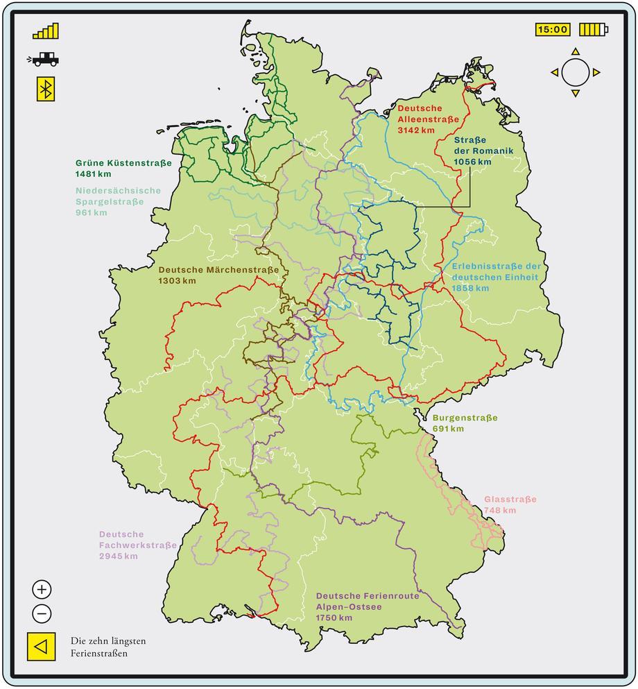 Ferienstrassen Deutschland Karte - deutschlandkarte - Karte Deutschland Ostsee