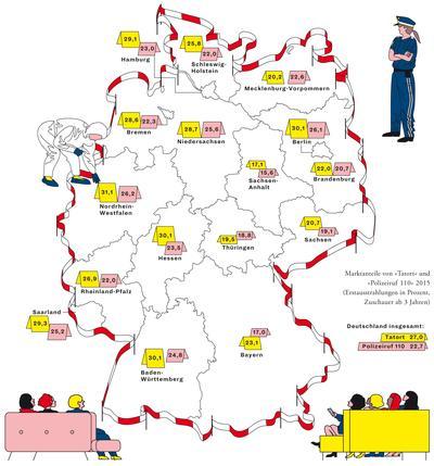 Deutschlandkarte Krimiserien Zeitmagazin