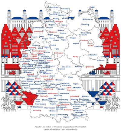 Deutschlandkarte Doppelganger Von Grossstadten Zeitmagazin