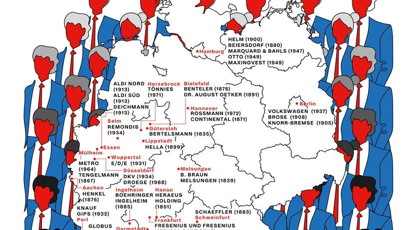 Deutschlandkarte Gründungsorte