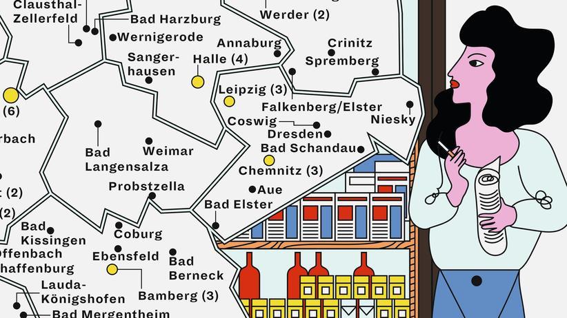 Deutschlandkarte: Ein Prost zum Trost