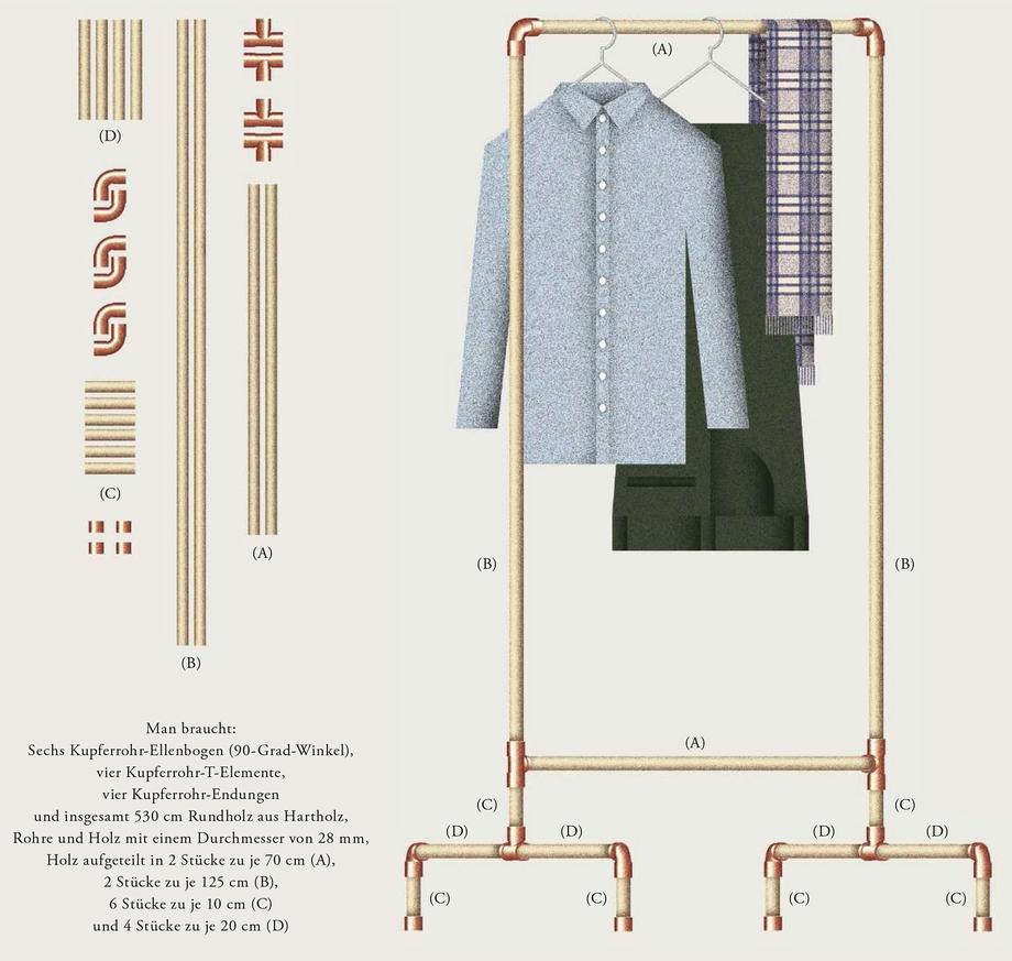 garderobe aus kupferrohr | zeitmagazin