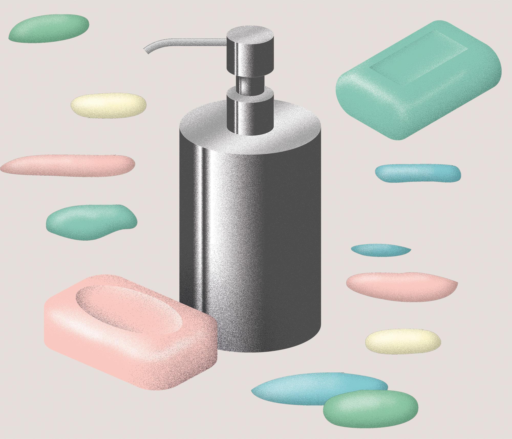 Wundertüte: Aus 120 g fester Seife erhält man durchschnittlich ungefähr 800 ml Flüssigseife.
