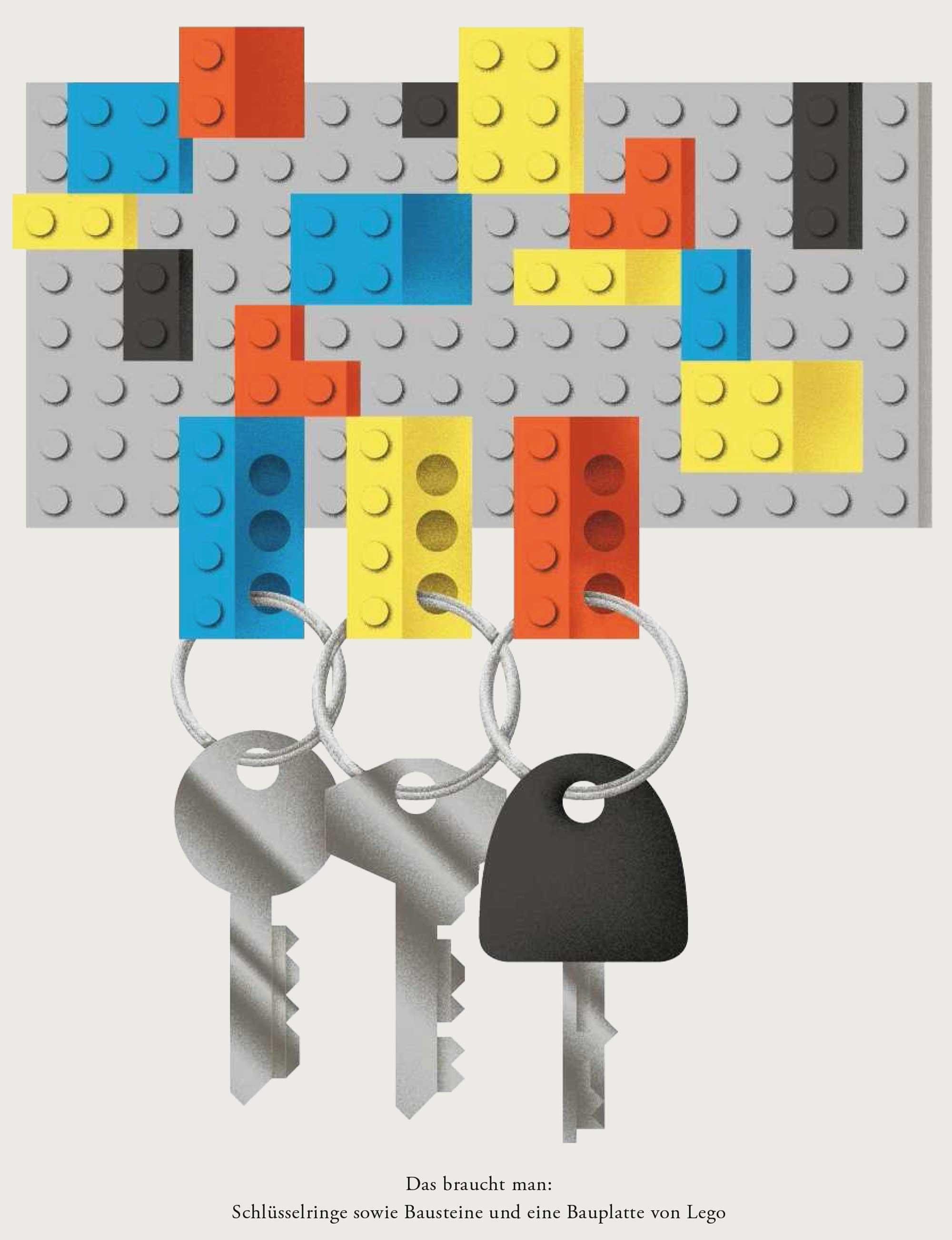 Wundertüte: Ein Schlüsselbrett aus Lego