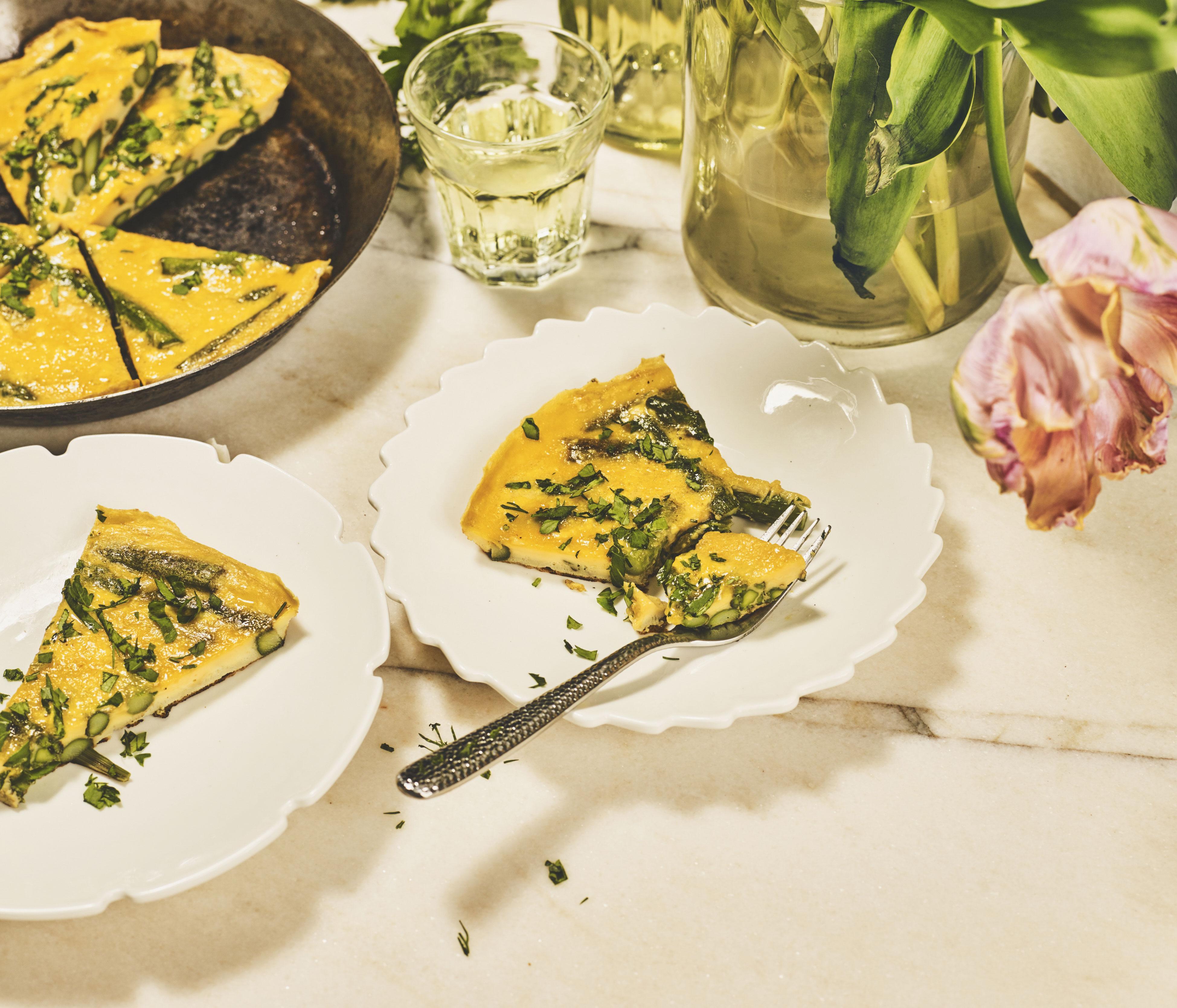 Wochenmarkt: Frittata mit Spargel