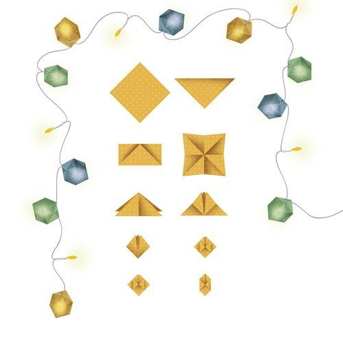 Lichterkette Mit Origami Wurfeln Wundertute Zeitmagazin