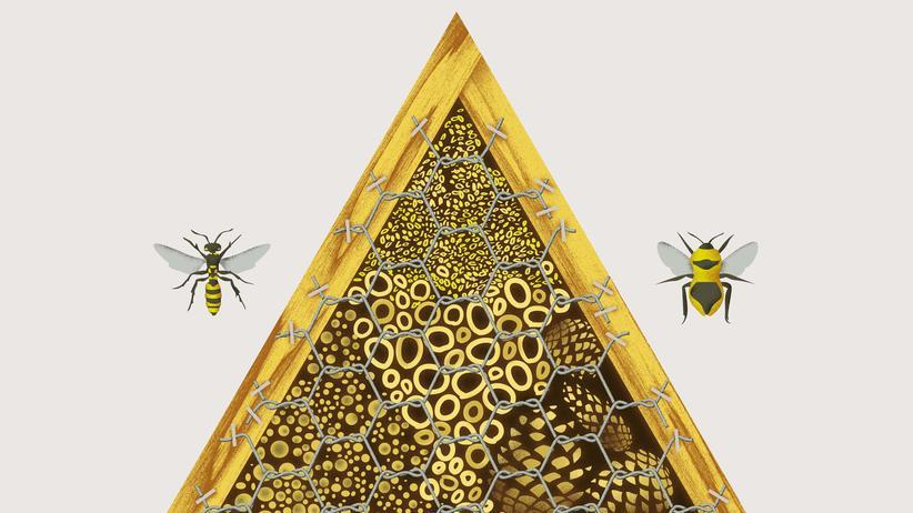 Insektenhotel: Willkommen ist, wer bssssst