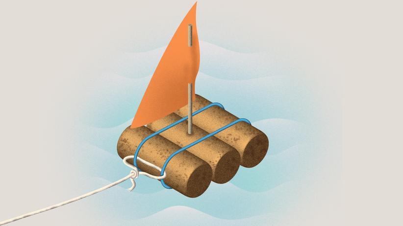 Spielzeugboot: Auf kleiner Fahrt