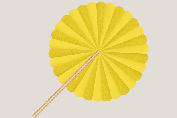 Wundertüte: Wie man einen Papierfächer faltet.
