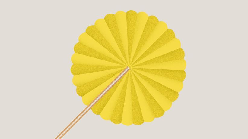 Papierfächer: Die Kunst des Wedelns