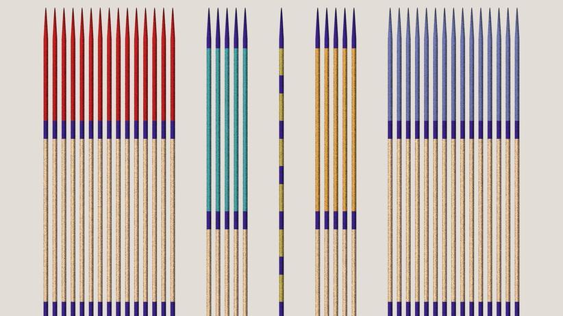 Mikado: Viele bunte Stäbchen