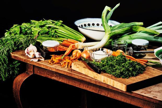 Wochenmarkt: Selbst gemachte Gemüsebrühe
