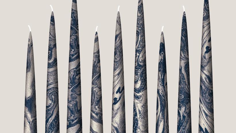 Kerzen: Brennender Marmor