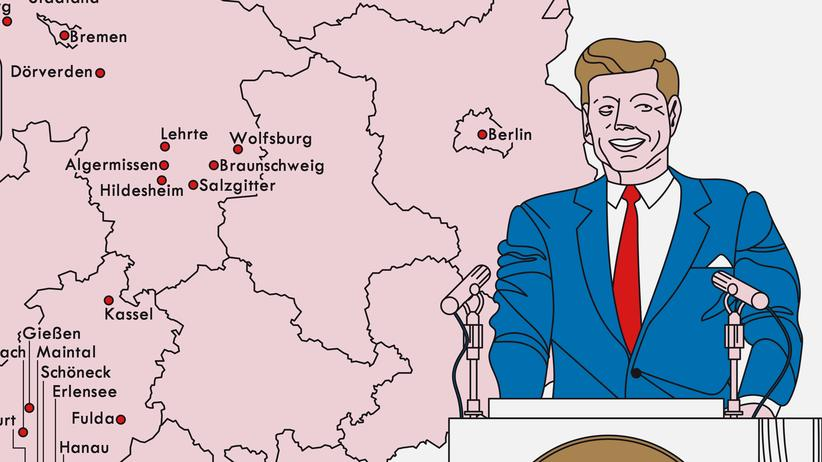 Deutschlandkarte: Ein Präsident des Westens