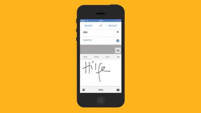 """Google Translate: """"Hilfe"""" auf Indisch"""