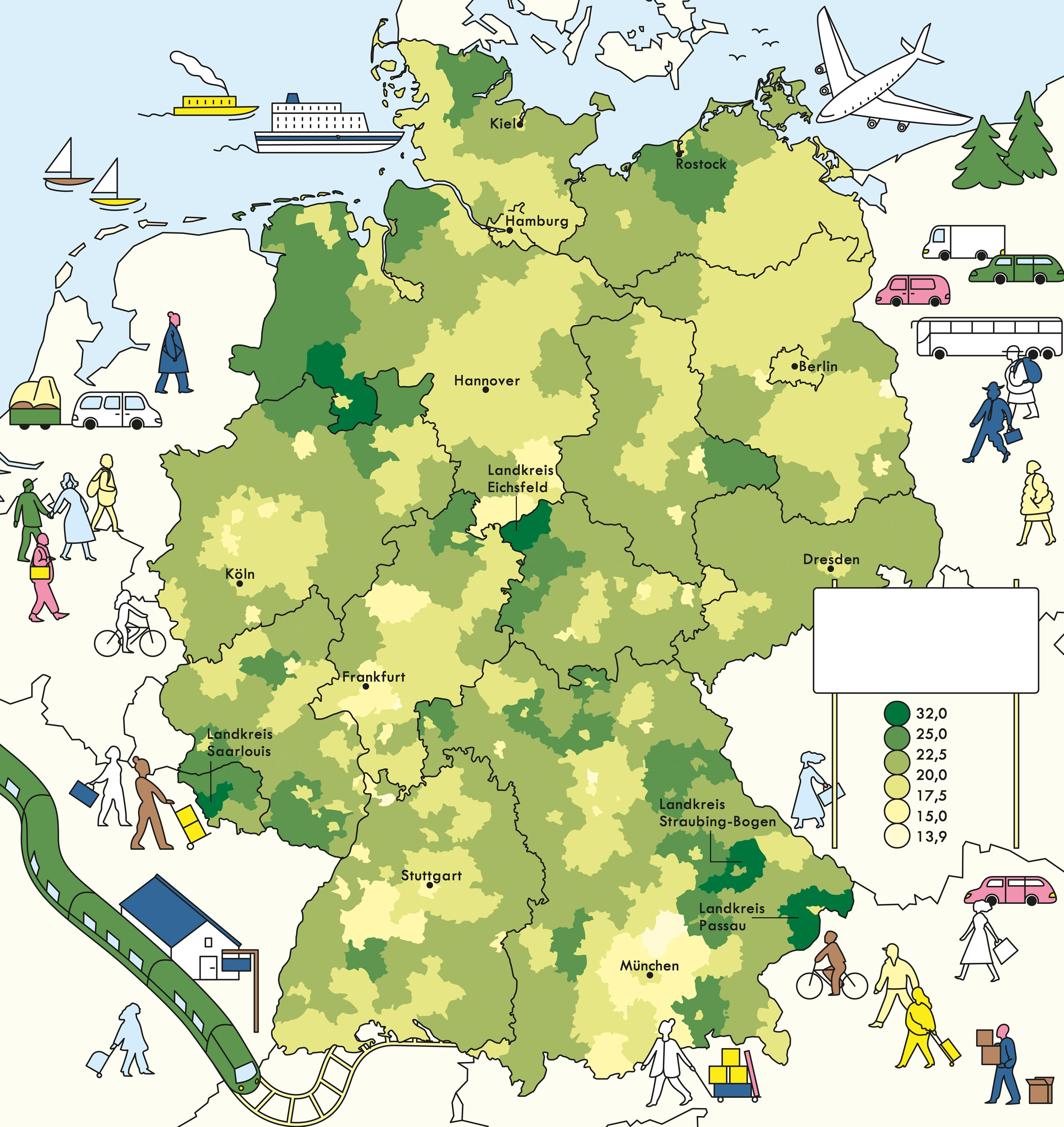 Deutschland Karte Autobahnen Und Städte.Deutschlandkarte Sehenswertes An Autobahnen Zeitmagazin