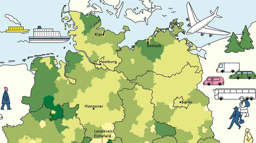 Deutschlandkarte: Die Heimat ruft
