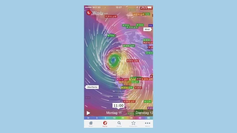 Windy-App: Vom Winde verweht