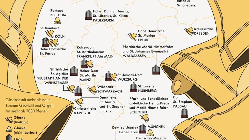 Deutschlandkarte: Voll auf die Glocke