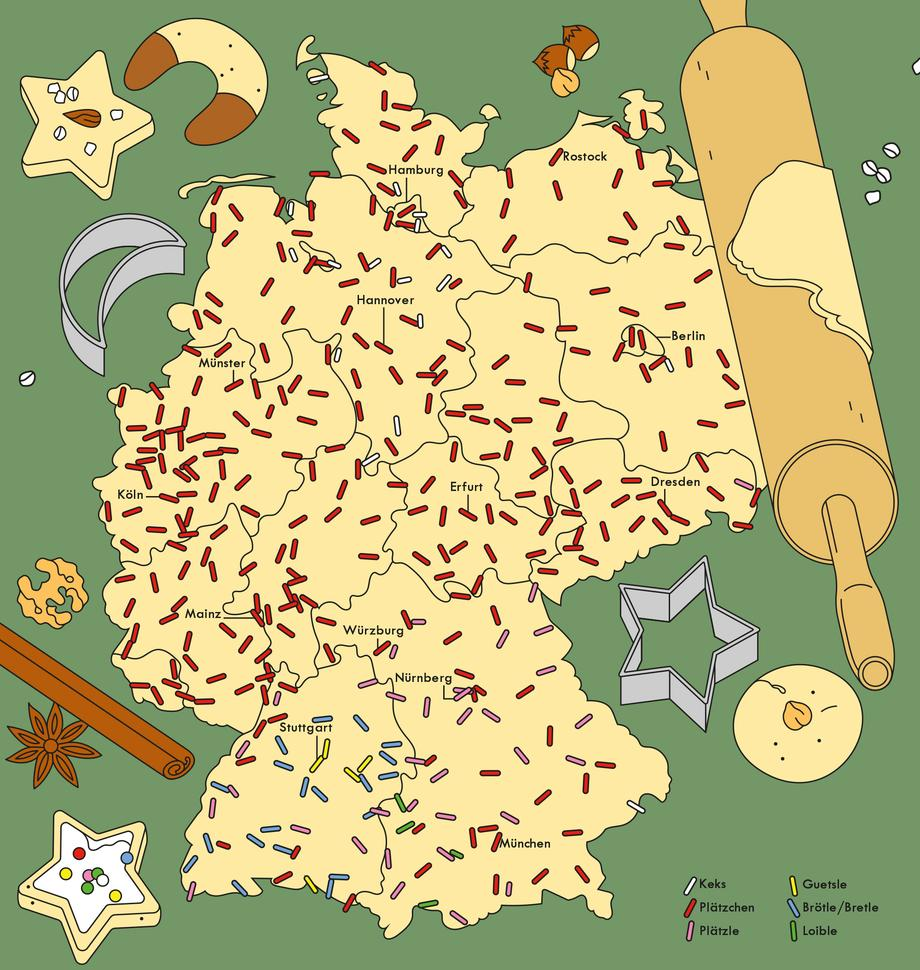 deutschlandkarte Deutschlandkarte: Plätzchen oder Kekse? | ZEITmagazin deutschlandkarte