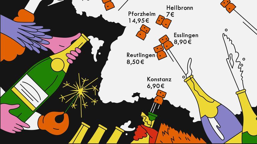 Deutschlandkarte: Hoch die Tassen